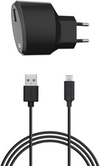 XQISIT Travel Charger 2.4A Single USB EU - USB C black