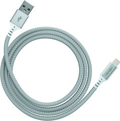 Ventev charge & sync cable 4ft lightning silver colored