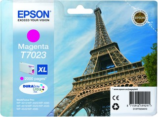 (Origineel Epson) T7023 inktcartridge magenta high capacity 21,3ml 2.000 pagina's 1-pack