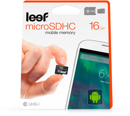 Leef microSDÿcard with Adapter 16GB black