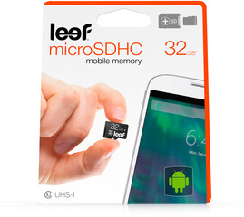 Leef microSDÿcard with Adapter 32GB black