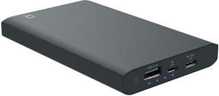 XQISIT Premium Power Bank 12000 mAh 3A Dual anthracite