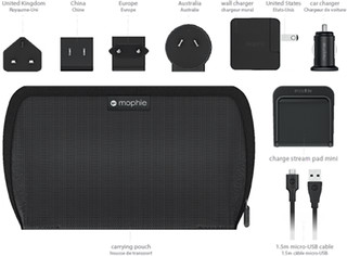 Mophie Charge Stream Global Travel Kit black