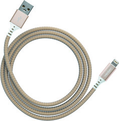 Ventev charge & sync cable 4ft lightning gold colored