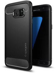 Spigen  for Galaxy S7 Edge Zwart