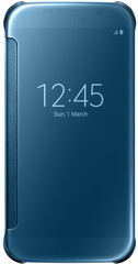 Samsung Clear View Cover for Galaxy S6 Blauw