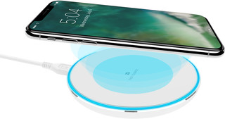 XQISIT Wireless Fast Charger 10W white