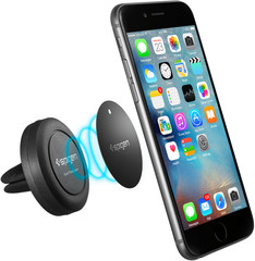 Spigen Kuel Q11 (A200) Air Vent Magnetic Car Mount for Universal black