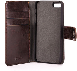 XQISIT Wallet Case Eman for iPhone 5/5S/SE Bruin