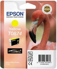 (Origineel Epson) T0874 inktcartridge geel standard capacity 11.4ml 1-pack