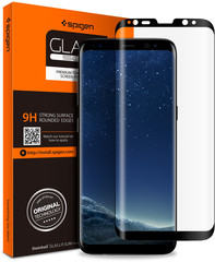 Spigen Glas.tR Full Cover for Galaxy S8 clear/black