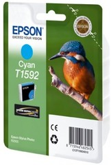 (Origineel Epson) T1592 inktcartridge cyaan standard capacity 1-pack Stylus Photo R2000