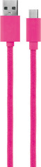 XQISIT Cotton Cable USB C 3.0 to USB A 180cm pink