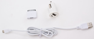 Enjoy Car Charger 1A 30pin +microUSB cable Wit
