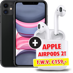 Apple iPhone 11 64GB met Apple AirPods 2 en Oplaadcase