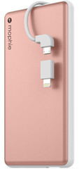 Mophie Powerstation plus 6000mAh for Universal rose gold colored