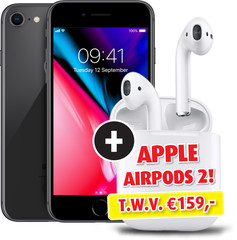 Forza iPhone 8 64GB Space Grey A-Grade & Apple AirPods 2 met Oplaadcase