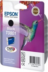 (Origineel Epson) T0801 inktcartridge zwart standard capacity 7.4ml 330 pagina's 1-pack