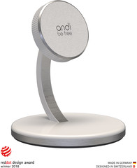 Andi Be Free Wireless Desktop Charger 15 Watt  white