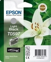 (Origineel Epson) T0597 inktcartridge licht zwart standard capacity 13ml 1-pack