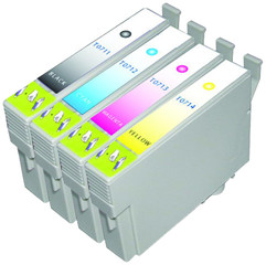 Epson T0711 zwart / cyan/ yellow/ magenta Multipack XL T0715 (C13T07154010) 4 Cartridges
