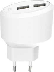 XQISIT Travel Charger 4.8A Dual USB EU white