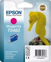 (Origineel Epson) T0483 inktcartridge magenta standard capacity 13ml 430 pagina's 1-pack