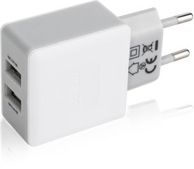 Travel Charger Dual USB 3,4Ah