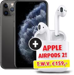 Apple iPhone 11 Pro 64GB Space Grey & Apple AirPods 2 met Oplaadcase