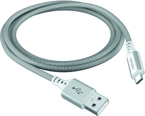 Ventev charge & sync cable 4ft USB-A to USB-C silver colored